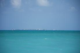 Blick vom Strand auf Isla Mujeres